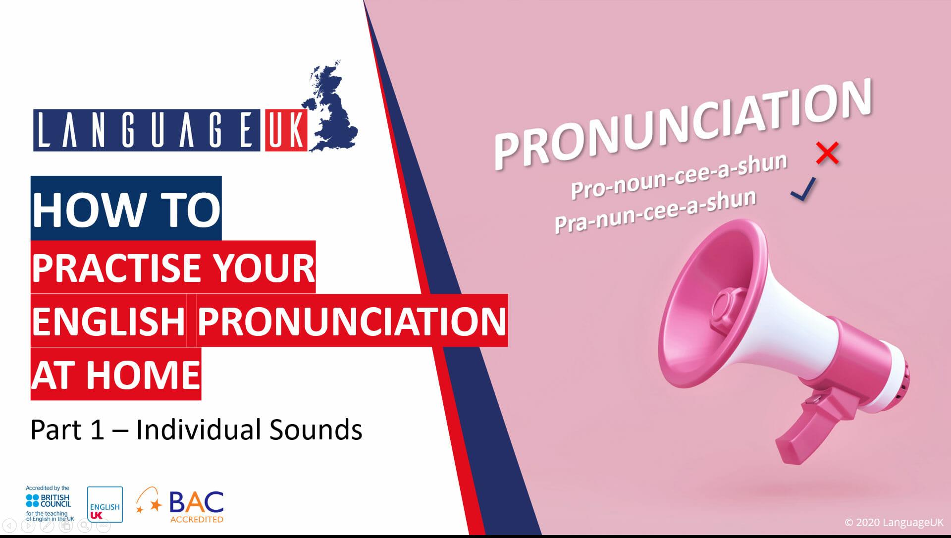 Øv din engelske udtale derhjemme